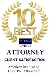 10 Best Attorney Client Satisfaction Award